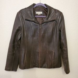 Jones New York sport leather jacket